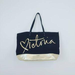 VICTORIA SECRET |limited edition black & gold tote